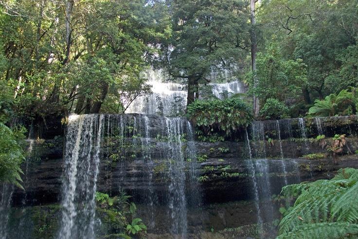 Russel Falls in Mount Field National Park, Tasmania, Australia
