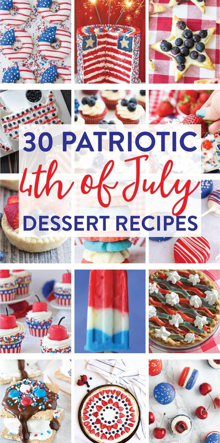 30 Red, White, and Blue 4th of July Dessert Recipes on Love the Day
