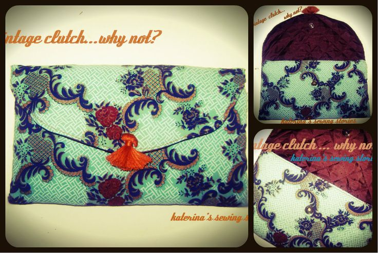 handmade upcycled vintage clutch
