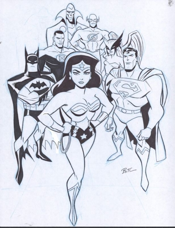 Bruce Timm Justice League, in Alan N's Bruce Timm Comic Art Gallery Room - 940130