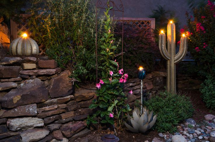 these tiki torches are great for the backyard- bring the desert to your home