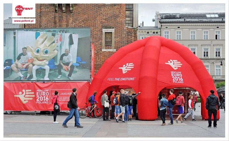 Spider Tent for Euro Handball Poland 2016 (via: Związek Piłki Ręcznej w Polsce)