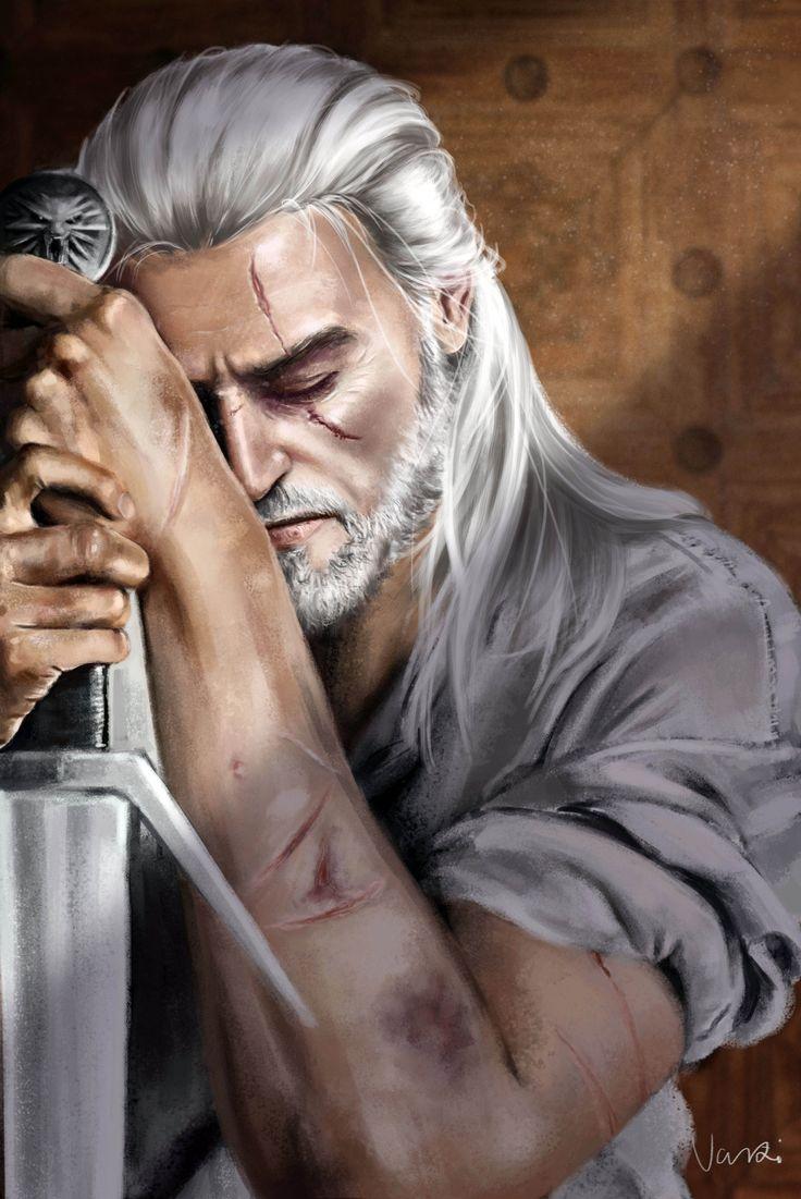 "Geralt of Rivia""World doesn`t need a hero. It needs a professional."" http://nikivaszi.tumblr.com/"