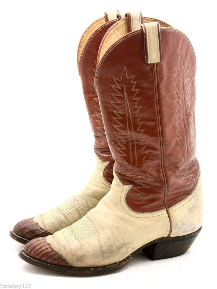 Vintage Unique Tony Lama Wingtip Cowboy Boots !!  Men's size 9 B