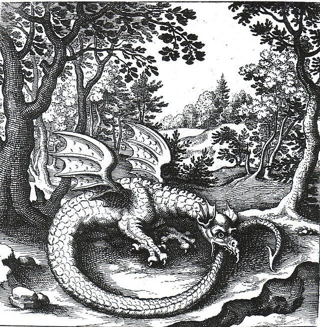 Ouroboros  - Draak (fabeldier) - Lucas Jennis 1609-1631 Wikipedia / Sacred Geometry <3