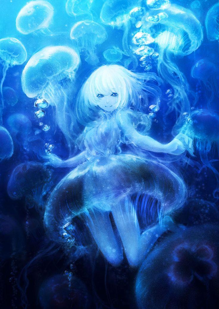 ♥Un anime de una adolescente con vestido de medusa no se ve a diario♥