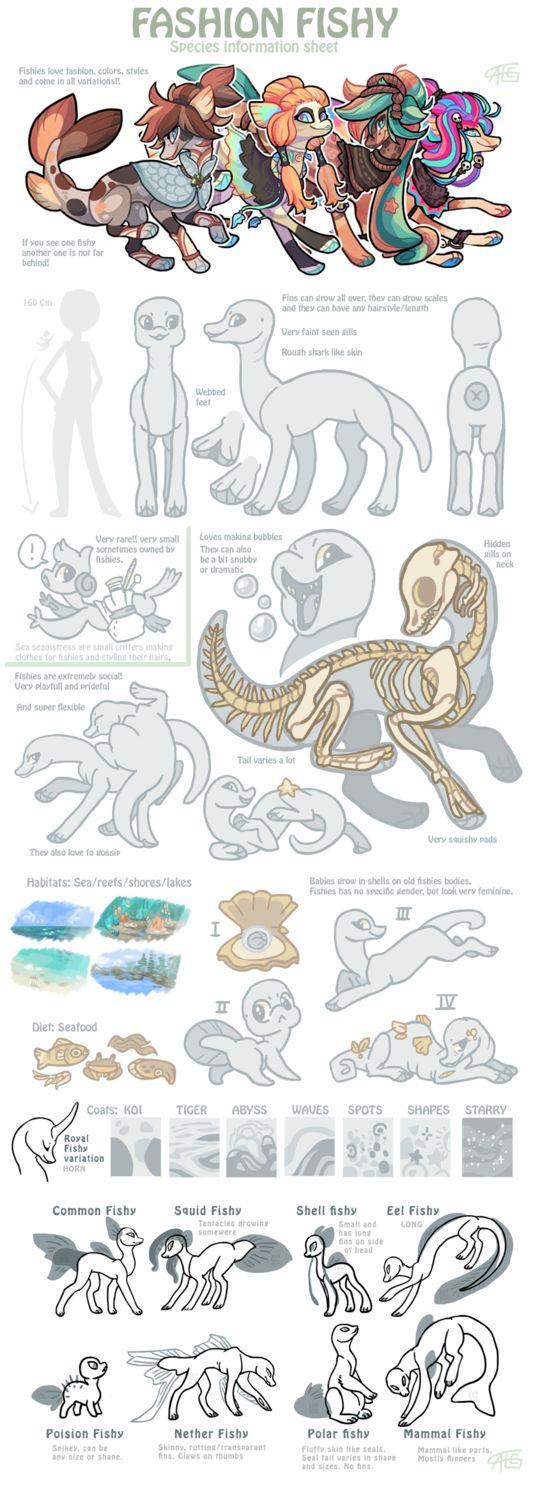 Fashion fishy Species sheet - CLOSED SPECIES by griffsnuff