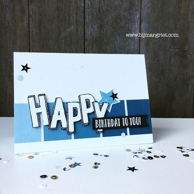 Hoi, daar ben ik weer.     Ik vond de paaskaart die ik zondag maakte zo leuk dat ik er nog een verjaardag variant op maakte. Een kaart voo...