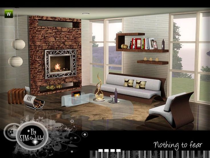 A Warm Cozy Modern Set For Your Sims By SIMcredibledesigns Found In Living Room SetsWarmModernArtistsSims 3