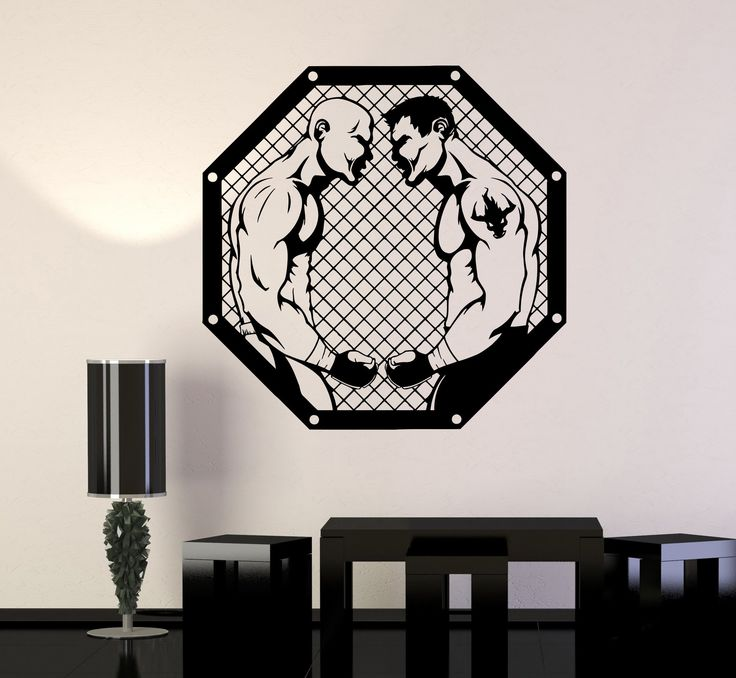Wall Decal MMA Fighters Fan Martial Arts Sport Fight Vinyl Stickers Unique Gift (ig2973)