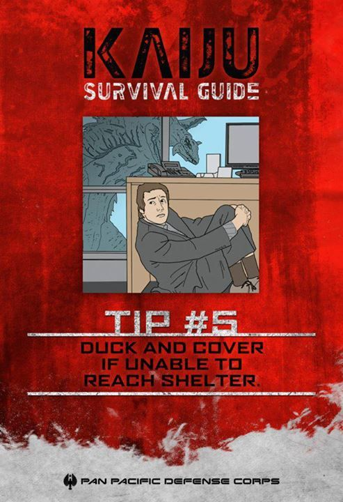 #PacificRimIT #PacificRim - Guida per sopravvivere ai #Kaiju, Consiglio di sopravvivenza #5: nel caso non riusciste a raggiungere un rifugio, nascondetevi.