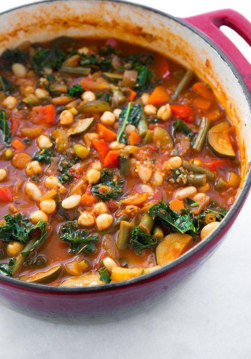 Vegan Kale and Quinoa Minestrone