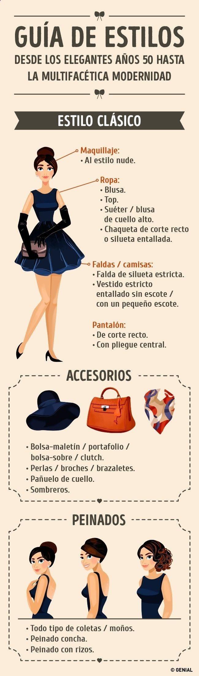 ¿Qué ropa, maquillaje y accesorios se llevan en el estilo clásico? #estilo #moda #clasico