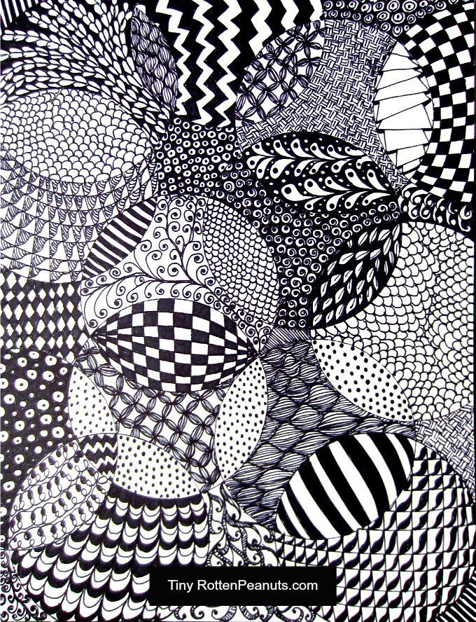 zentangle drawing idea