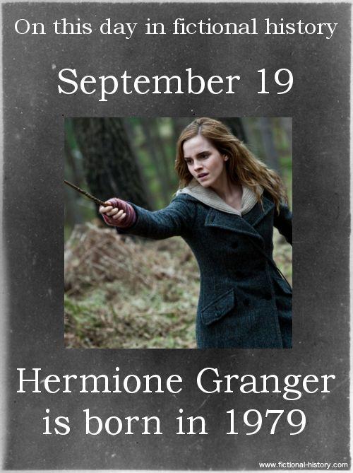 (Source) (Source) Name: Hermione Granger Birthdate: September 19, 1979 Sun Sign: Virgo, the Virgin Animal Sign: Earth Goat