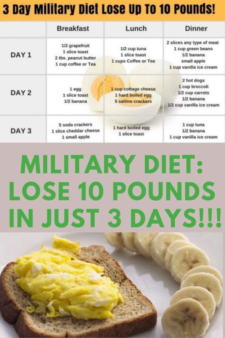 dieta del militare 3 giorni
