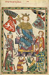 Kingdom of Bohemia - Wenceslaus II as depicted in the Codex Manesse Wikipedia