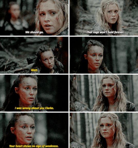[gifset] #2x10 #SurvivalOfTheFittest #Lexa #ClarkeGriffin