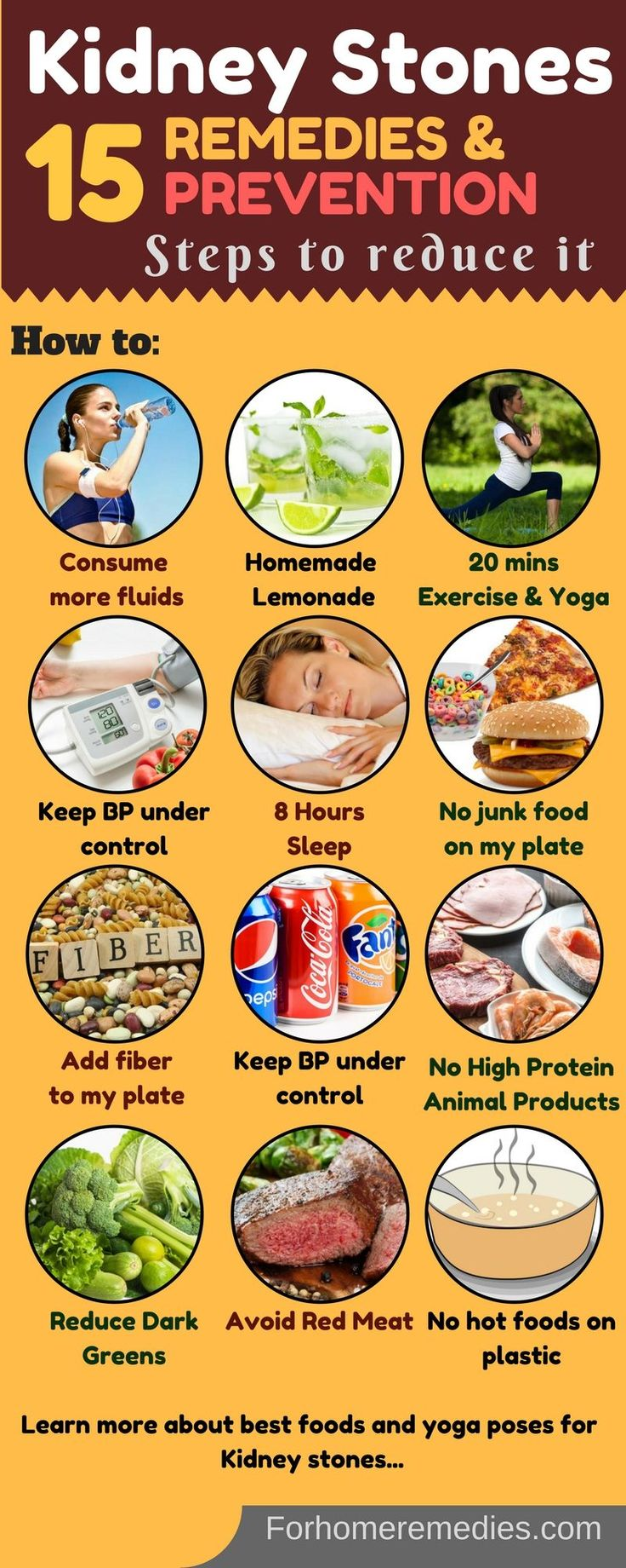 Home Remedies and Best foods for kidney stones: Diet plan, Exercises, Yoga poses, 5 Easy home remedies. Foods to avoid for kidney stones. How to prevent kidney stones.