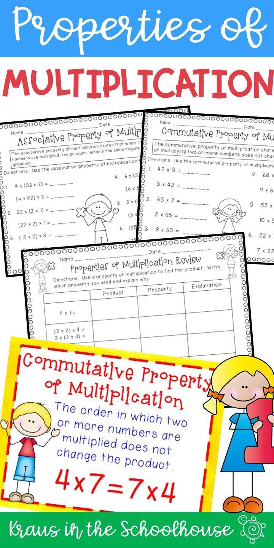 Properties Of Multiplication Easel Activity Distance Learning Properties Of Multiplication Commutative Associative Property [ 1440 x 720 Pixel ]