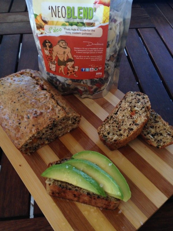 This paleo bread is super easy to make and tastes delicious with avocado…