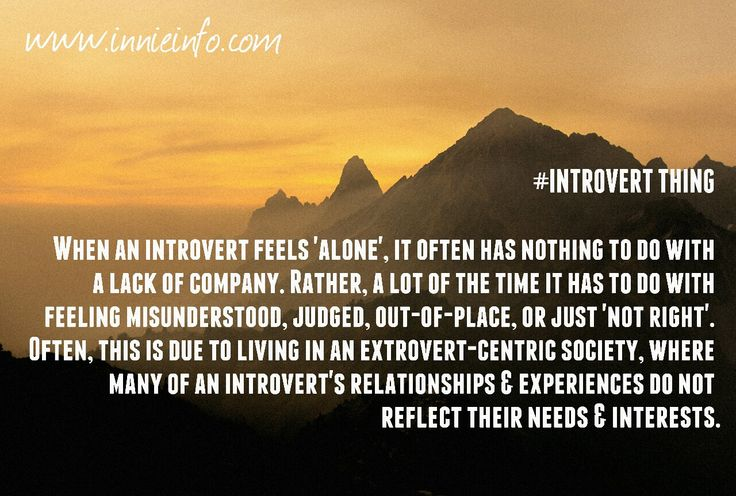 """Introvert Things"" meme series; Part 6. Feeling 'alone'. Introverts obviously can, and do feel 'lonely'. But usually, it's not in the same way most people would interpret this idea. The thing is,..."
