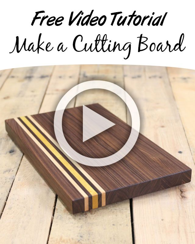 3652 best project plans free images on pinterest woodworking learn how to make a cutting board in this free video tutorial youll woodworking projects diywoodworking solutioingenieria Gallery