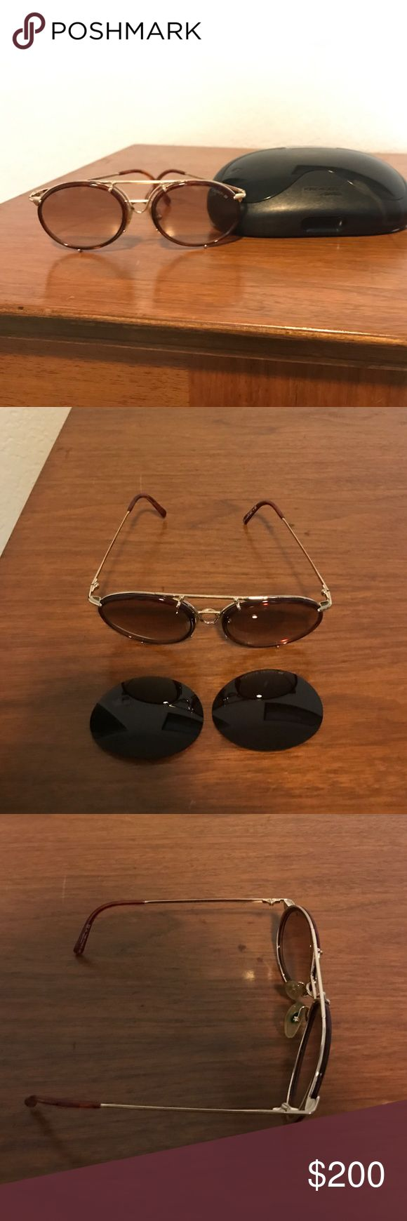 Carreras sunglasses model 5623-small Porsche design carrera sunglasses! LIKE NEW! Comes with case and darker fill replacements lenses as well. Chic vintage look! Super funky and fun! Carrera Accessories Sunglasses