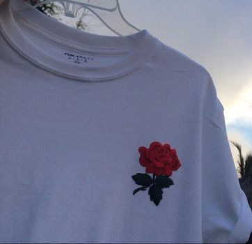 Rose Corner White T Shirt