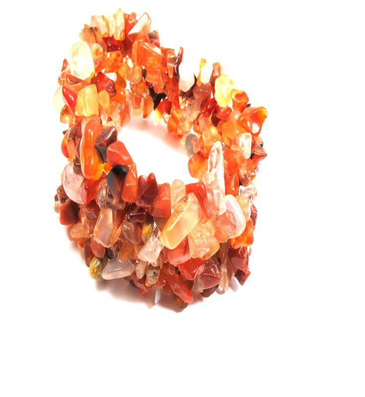 Red carnelian gemstone bracelet!