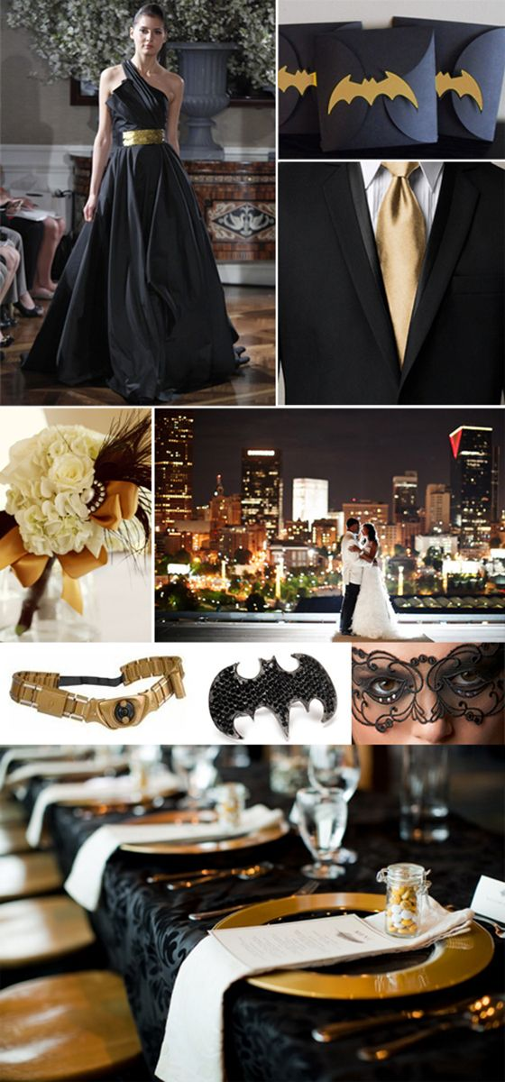 GAH SO AWESOME.: Stuff, Dreams, Wedding Ideas, Batman Theme Wedding, Parties, Wedding Theme, Future Wedding, Batman Themed Weddings, Batman Wedding