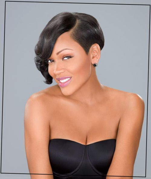 Megan Good is SO gorgeous to me. She is one Beautiful woman and i love how Flawless she looks in this photo. The short hair is really working for her. Her skin is smooth, the Soft Pink Lipstick on her nice lips is just the icing on the cake for me in this photo. The Bustier top is cute too!!