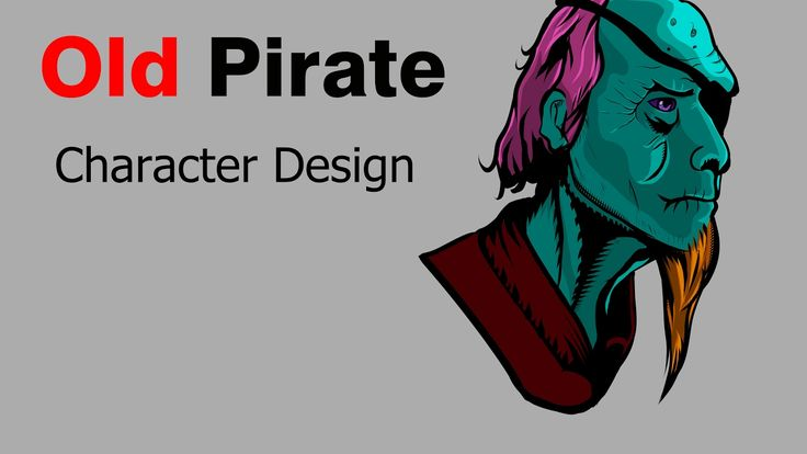 "Manga studio 5 Ex :New Chacarater Design  ""Old Pirate"""