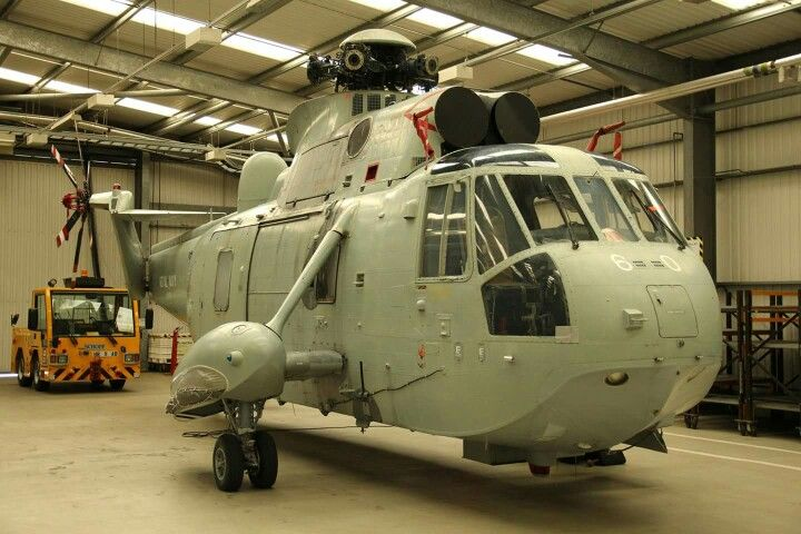 Sikorsky Sea King Helicopter minus her rotor blades.