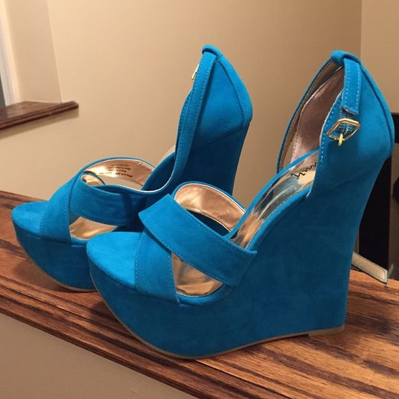 Teal wedges 4 inch teal wedges Shoes