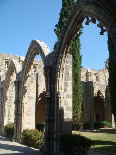 Bellapais Abbey, Northern Cyprus. I got engaged here in 2007, two weeks before our wedding ;)