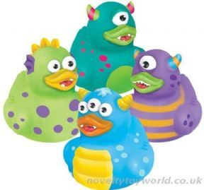 a unique halloween novelty for kids and rubber duck lovers these interesting duckies feature 4 different colourful monster designs and are a great prize or - Halloween Novelties Wholesale