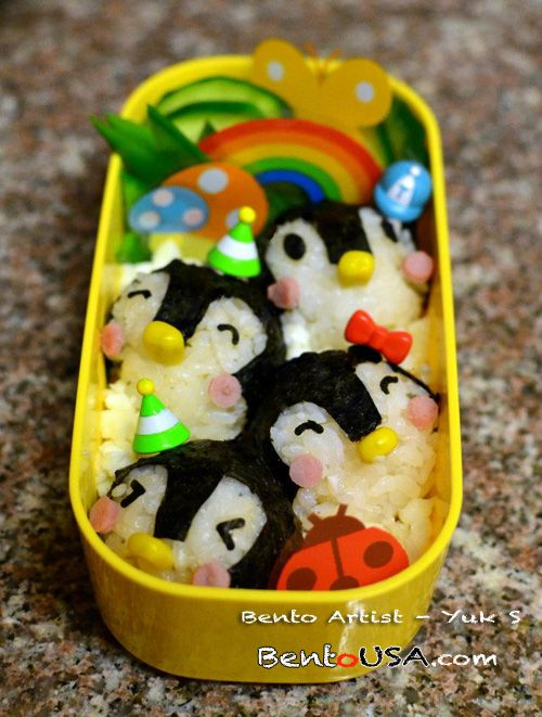 Bento box fun with many pictures of fun bento ideas with a few including technique and food instruction.