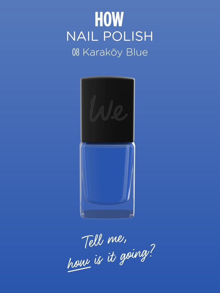 HOW | Nail Polish in Karakoy Blue  Discover more on http://wemakeup.it/#HOW_nail_polish