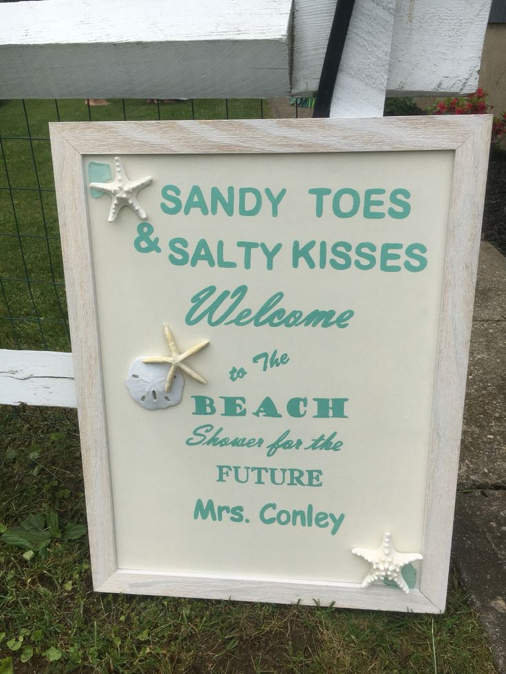 Beach bridal shower welcome sign. Bridal shower welcome sign!                                                                                                                                                      More
