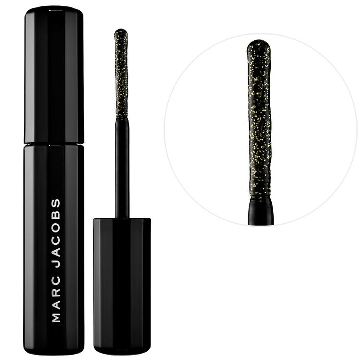 Shop Marc Jacobs Beauty's Lamé Noir Ultra-Glittering Mascara at Sephora. It brushes on deep noir and golden glitter hues for day to night looks.