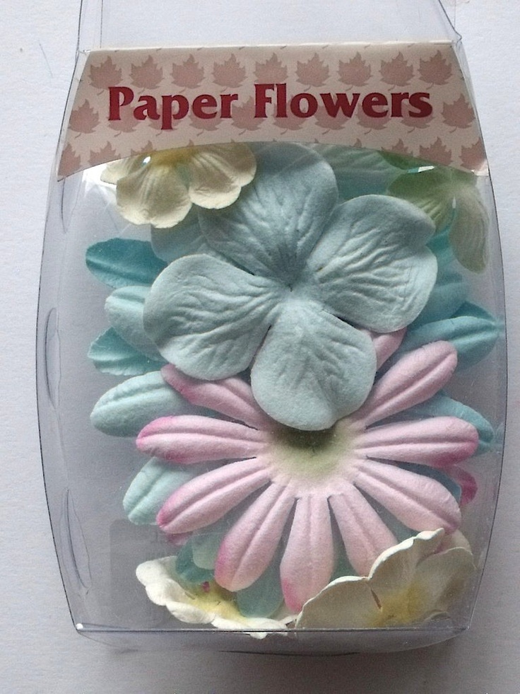 WOODWARE PAPER FLOWERS - PASTEL      Beautiful pack of Pastel coloured co-ordinated paper flowers in assorted sizes and shades to decorate your creations APPROX 14 FLOWERS.