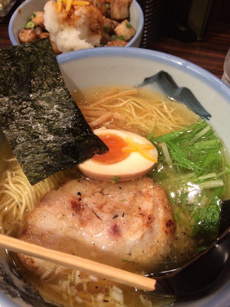 """Yuzu (citron)"" salt of Japanese Ramen ゆず塩ラーメン・阿夫利・恵比寿店"