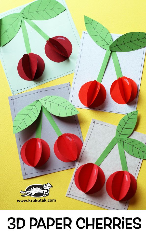 krokotak | 3D Paper Cherries