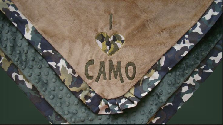 Camo Blanket - Blanket with Pleated Border - I Love Camo - pinned by pin4etsy.com