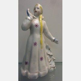 """Фарфоровая статуэтка """"Снегурочка"""". Дулево. 1967 год.,  Фарфоровые статуэтки"""