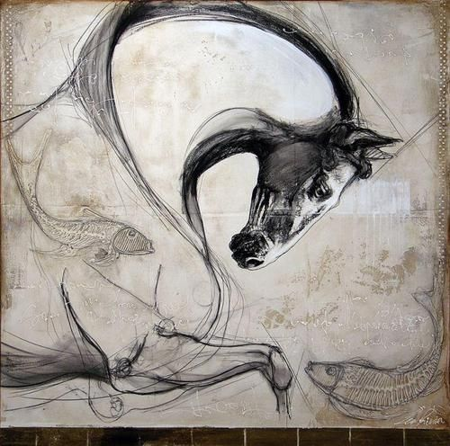 Love the curve on the neck of this horse -Léa Rivière