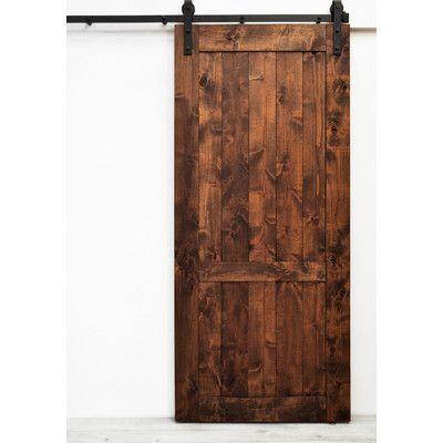 Hoboken Wood 1 Panel Interior Barn Door Doors Closet Doors And Closet