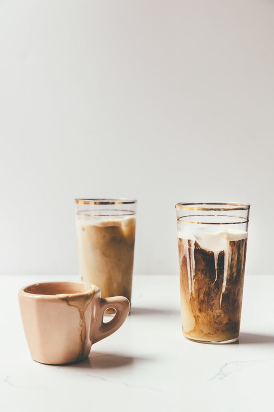 Iced Horchata Lattes - creamy and sweet and delicious on a blazing hot day.