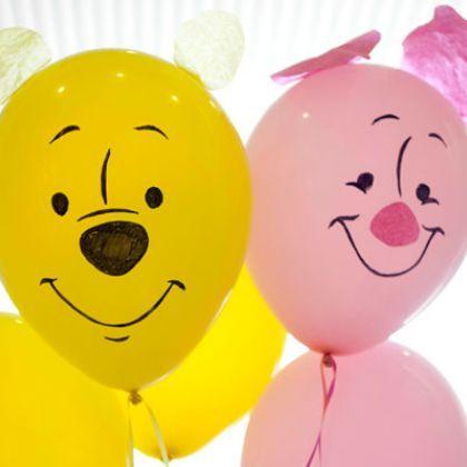 Tes ballons gonflables Winnie et Porcinet
